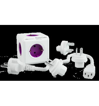 PowerCube ReWirable + 3x plug + IEC EU cable DE