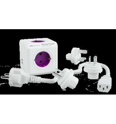 PowerCube ReWirable USB + 3x plug + IEC EU cable DE