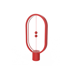 Heng Balance Lamp Ellipse Plastic USB Red